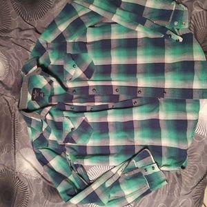 AE Green squared Button Down shirt